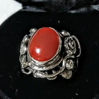 天然珊瑚のシルバーリング(リング(指輪))