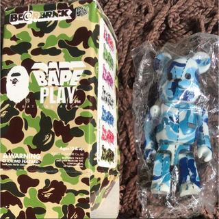 ベアブリック ape 青 猿 カモ フィギュア