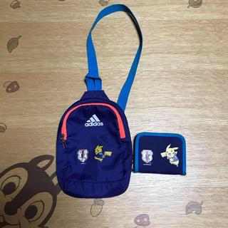 アディダス(adidas)のサッカー日本代表公式★ボディバッグ&お財布セット★used★ポケモン(財布)