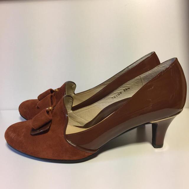 WASHINGTON GINZA.リボンオペラパンプス.箱付き レディースの靴/シューズ(ハイヒール/パンプス)の商品写真