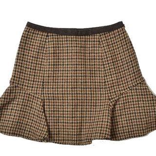 デンドロビウム(DENDROBIUM)の◇DENDROBIUM◇size38 flared skirt brown(ミニスカート)