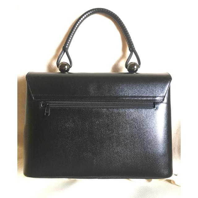 濱野皮革工芸(ハマノヒカクコウゲイ)のしょこら様 濱野皮革工藝 フォーマルバッグ 黒 レディースのバッグ(ハンドバッグ)の商品写真