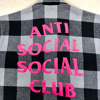 アンチ(ANTI)のanti social social club ネルシャツ Mサイズ assc(シャツ)