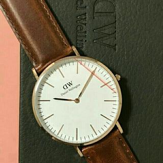 ダニエルウェリントン(Daniel Wellington)の年末最終セール!!【ブラウン 40mm】正規品★ダニエルウェリントン 腕時計(腕時計(アナログ))