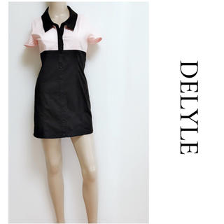 デイライル(Delyle)のDELYLE ▶︎新品 バイカラー シャツワンピース DaTuRa Rady(ミニワンピース)
