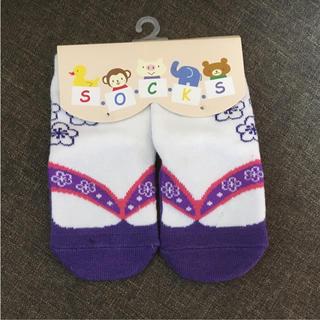 袴ロンパース(靴下/タイツ)
