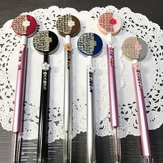 選べる6カラー☆ツイード柄のflowerボールペン(その他)