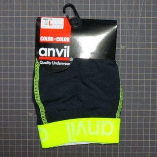 アンビル(Anvil)のanvil ボクサーパンツ ブラック×イエロー Lサイズ(ボクサーパンツ)