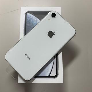 ドコモ版SIMフリー iPhoneXR 64GB ホワイト 新品未使用(スマートフォン本体)