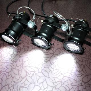【新品3台】舞台照明 ステージライト COB LEDパーライト 調光器対応版 ①(その他)