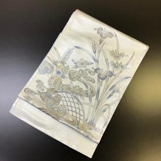 正絹。薄いブルー系の袋帯。未使用のお品。(帯)