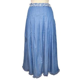 エーアイシー(A・I・C)の値下げ❗️新品❗️刺繍入りデニムロングスカート(ブルー)(ロングスカート)