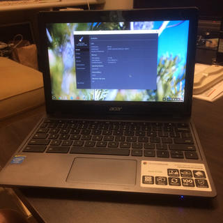 エイサー(Acer)のChromebook(ノートPC)