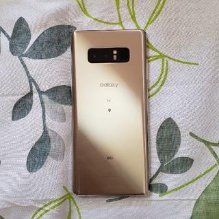 サムスン(SAMSUNG)のGalaxy Note8 au ゴールド SIMロック解除済み(スマートフォン本体)