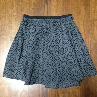 ローリーズファーム(LOWRYS FARM)のスカート レオパード  ダーググレー ゴム(ミニスカート)