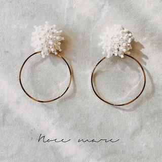 -pearl hoop- (ピアス)