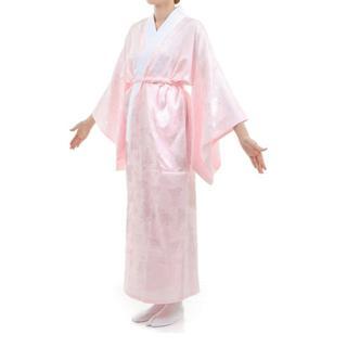 長襦袢 ピンク 掛け衿付き 特典で衿芯2本付き レディース Lサイズ(その他)