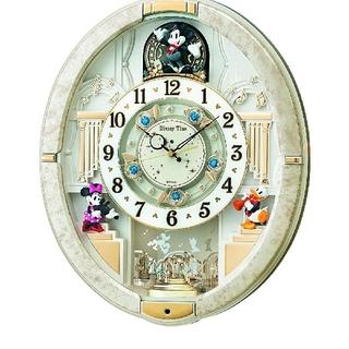 【電波 からくり 時計 ディズニー ミッキー ミニー】 FW574W