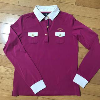 キャロウェイゴルフ(Callaway Golf)のキャロウェイ ポロシャツ 長袖シャツ 秋冬 ゴルフウェア レディース L(ウエア)