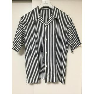 ムジルシリョウヒン(MUJI (無印良品))の無印 ムジラボ 2018春夏 ドロップショルダーシャツ LXL ストライプ 美品(シャツ)
