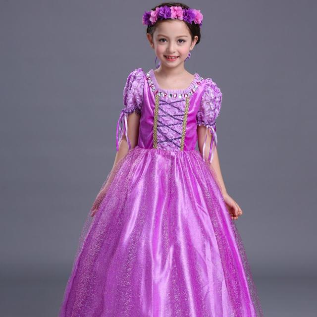 d564b66512e19 ラプンツェル風ドレス 120cm ハロウィン コスプレ 衣装 キッズ ベビー マタニティのキッズ服 女の子
