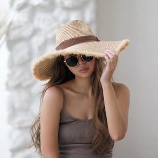 ルームサンマルロクコンテンポラリー(room306 CONTEMPORARY)のroom306contemporary☆Summer Wide Hat新品(麦わら帽子/ストローハット)