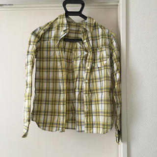 セシール(cecile)のイエロー チェックシャツ(シャツ/ブラウス(長袖/七分))