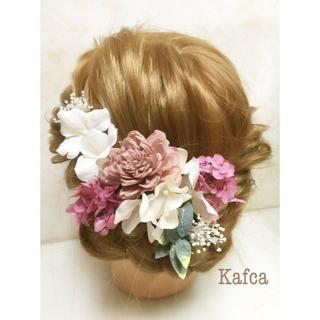 結婚式 成人式 髪飾り 9本 フラワヘッドドレス ♡10-8002