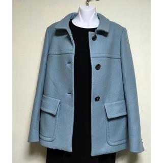 デレクラム(DEREK LAM)のused●デレクラム  きれい色 上質素材 コート  ブルー イタリア製 38(その他)
