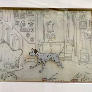 ディズニー(Disney)の絵画 101匹わんちゃんのセル画(原画)オリジナルです。(アート/写真)