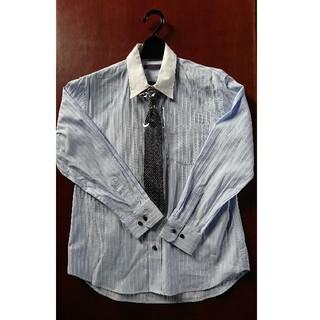 ヒロミチナカノ(HIROMICHI NAKANO)のヒロミチナカノ リバーシブルネクタイ付きフォーマルシャツ 150cm サックス(ドレス/フォーマル)