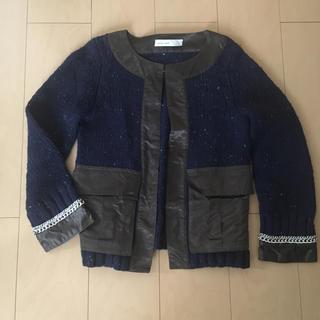 サカイラック(sacai luck)のsacai  luck ニットジャケット(ニット/セーター)