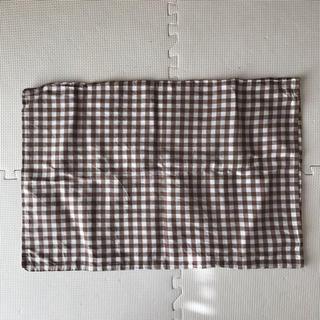 ムジルシリョウヒン(MUJI (無印良品))の無印 枕カバー ギンガムチェック ブラウン(枕)