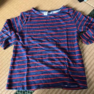 ザラ(ZARA)のボーダー Tシャツ ZARA ロンT 七分丈 118㌢(Tシャツ/カットソー)