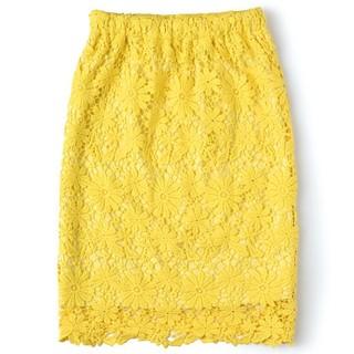 セシール(cecile)の新品Cecile総レーススカート(ひざ丈スカート)