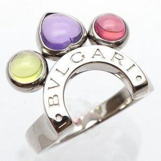 ブルガリ(BVLGARI)の正規品 ブルガリ アレグラ マルチカラーリング ホワイトゴールド(リング(指輪))