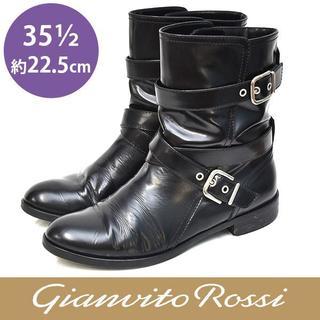 ジャンヴィットロッシ(Gianvito Rossi)のジャンヴィトロッシ ベルト ショートブーツ 35 1/2(約22.5cm)(ブーツ)