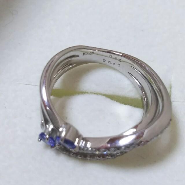 プラチナ タンザナイト ダイヤ リング レディースのアクセサリー(リング(指輪))の商品写真