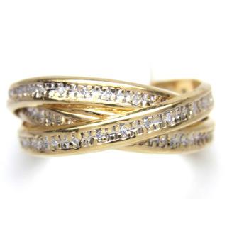 K18 トリニティ ダイヤモンド リング(リング(指輪))