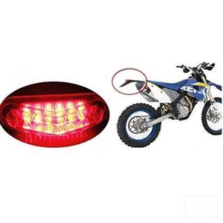 [マローサム] バイク テール ライト 尾灯 ナンバー灯付 赤色 レッド(モトクロス用品)