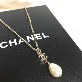 0194bbbb6ff7 シャネル(CHANEL)の正規品 美品 CHANEL シャネル ネックレス ココマーク パール(