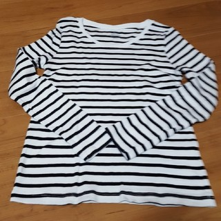 ジーユー(GU)のGU 長袖ボーダーTシャツ(Tシャツ(長袖/七分))