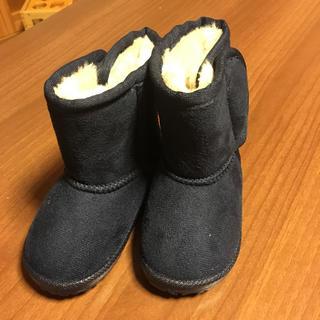 ディスカバード(DISCOVERED)のKids ムートンブーツ 紺色13.0cm(ブーツ)