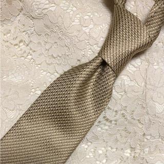 コムサメン(COMME CA MEN)の極美品‼️COMME CA MEN 高級シルク ゴールド ネクタイ(ネクタイ)