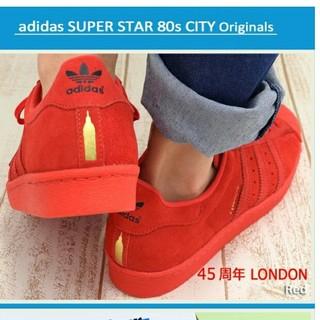 アディダス(adidas)の限定 アディダス スーパースター 赤 レッド スニーカー ロンドン adidas(スニーカー)