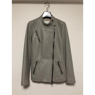 コーチ(COACH)の超美品 COACH コーチ ラムレザーライダースジャケット XS S〜M グレー(ライダースジャケット)