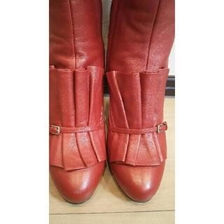 エスカーダ(ESCADA)のエスカーダ゚*:ロングブーツ 23.5 定価13万円 美品(ブーツ)