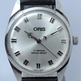オリス(ORIS)のクールなデザイン針 シルバーフェイス オリス  手巻き腕時計(腕時計(アナログ))