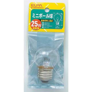 エルパ(ELPA)のミニボール球 電球 5個セット 25W E26 (クリア) (蛍光灯/電球)