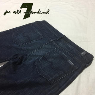 セブンフォーオールマンカインド(7 for all mankind)の濃紺 7 For All Mankind ストレッチ USA製 サイズ26(デニム/ジーンズ)